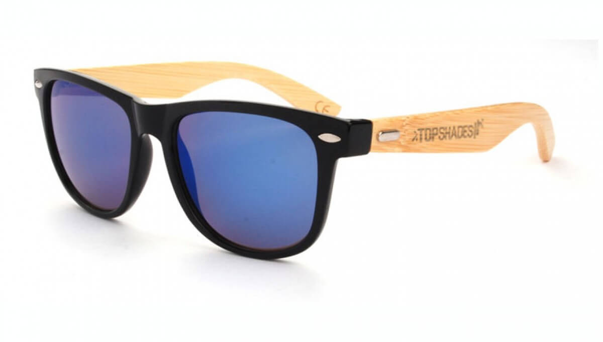 Blues wooden - sunglasses
