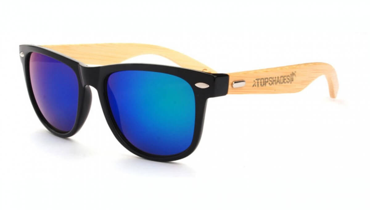 Skyblue - wooden sunglasses